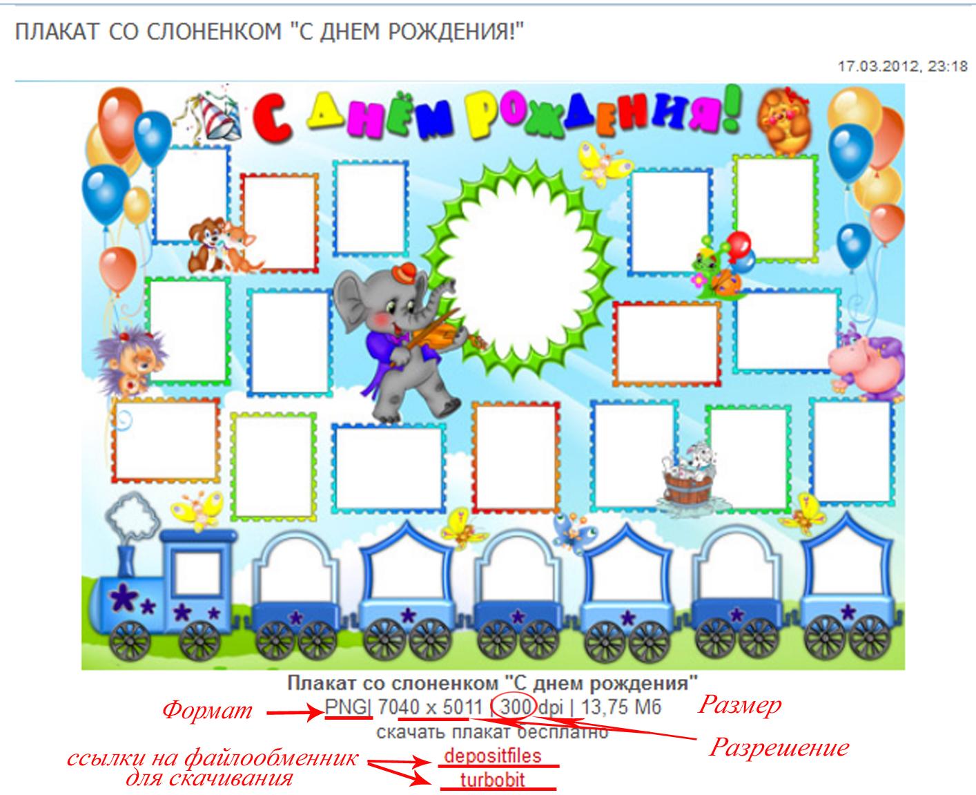 Как сделать плакат на день рожденья